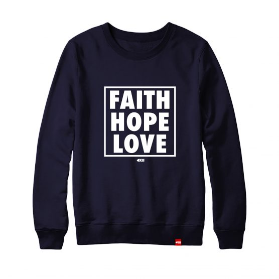 "Felpa ""Hope Faith Love"""