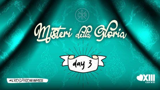 Misteri della Gloria - Copertina giorno 3