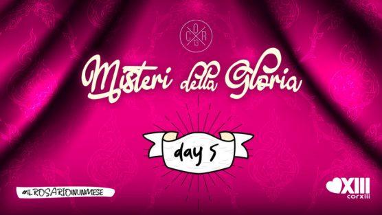 Misteri della Gloria - Copertina giorno 5