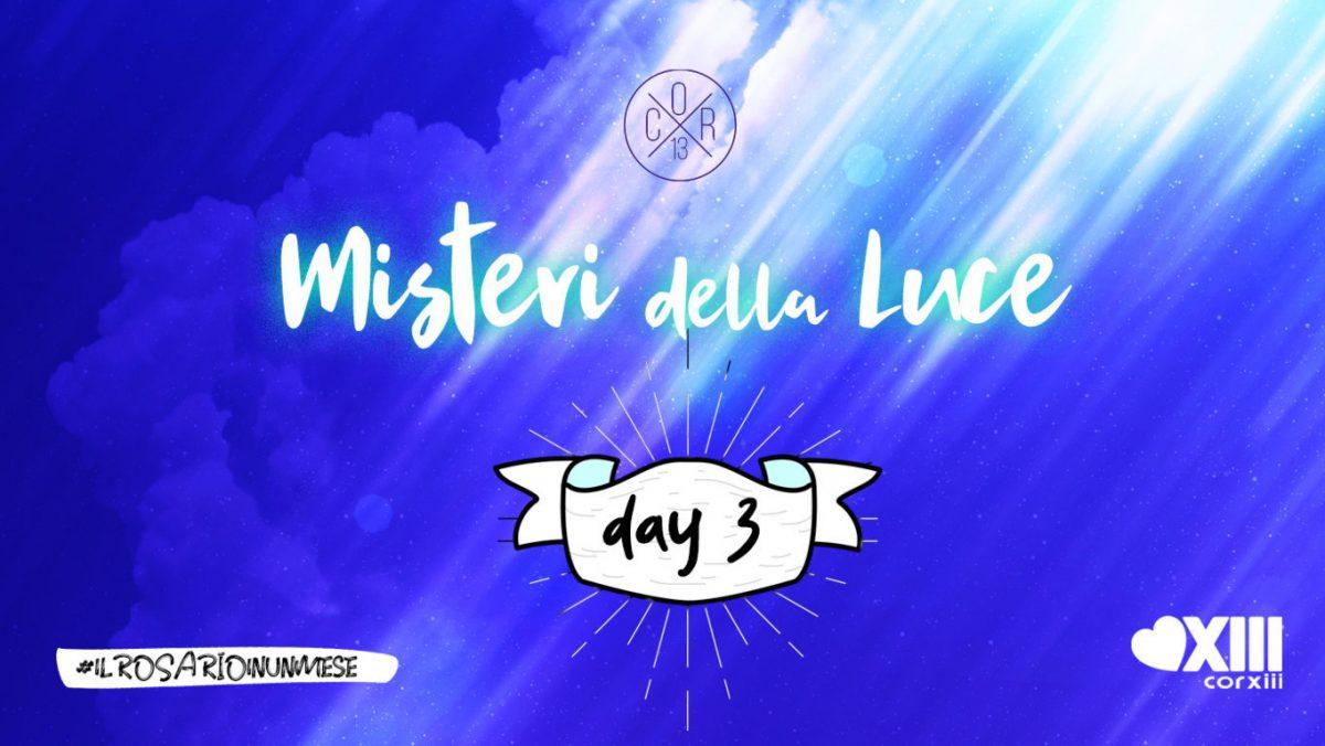 Misteri della Luce - Copertina day 3